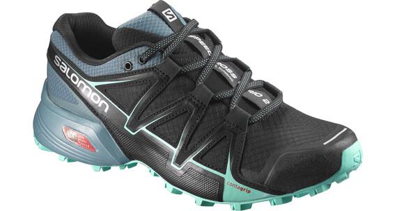 Salomon Speedcross Vario 2 Shoes Women Black/North Atlantic/Biscay Green